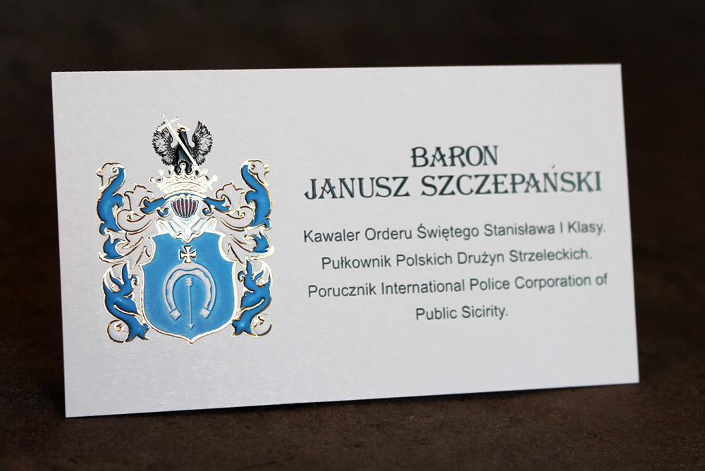 визитки герб родовой