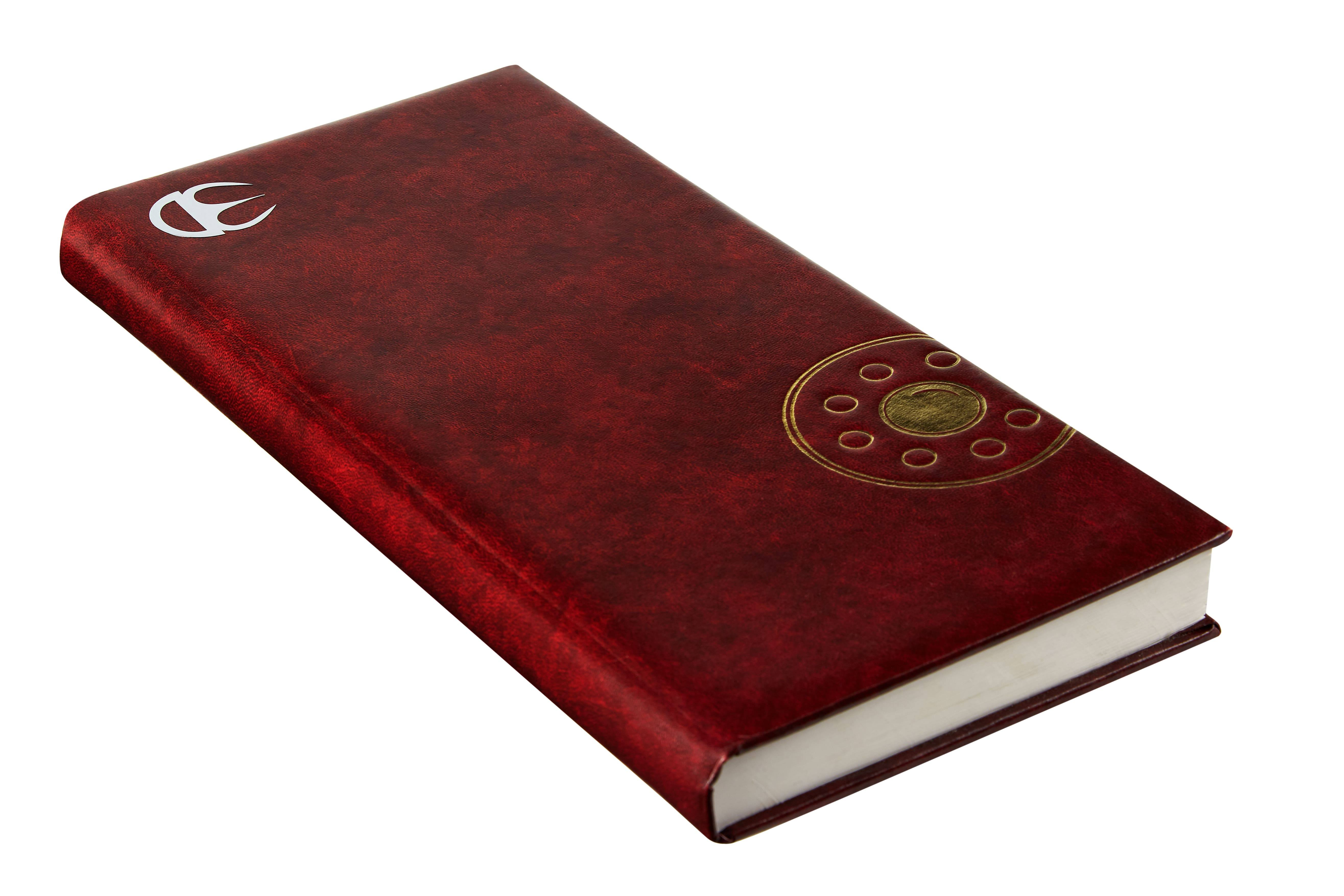 Фото ежедневника с нанесением на кожзам золотого логотипа
